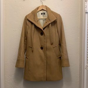 Gorgeous tan wool & cashmere coat by J. Crew
